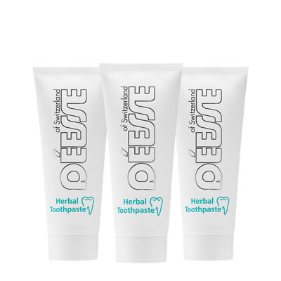 100320 - Mini-Herbal toothpaste Set 3 pieces 50 g