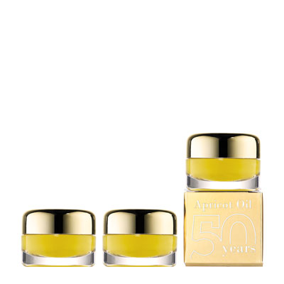 100440 - 3 pr.Mini anniversary apricot oil 4 ml Ltd.Ed.